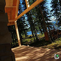 Nahanni Mountain Lodge cabin porch